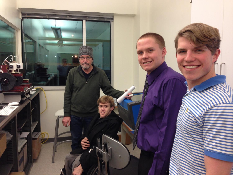 Alec Tranel, Greg Heal & Austin Kadulski at the Whitewater Innovation Center.