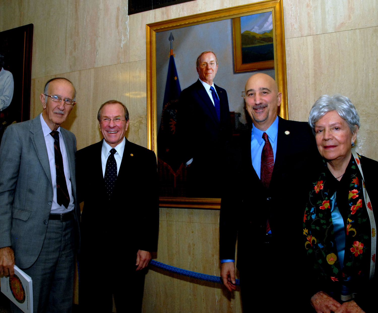 Unveiling at the State Capitol for Oregon Governor Ted  Kulongoski.