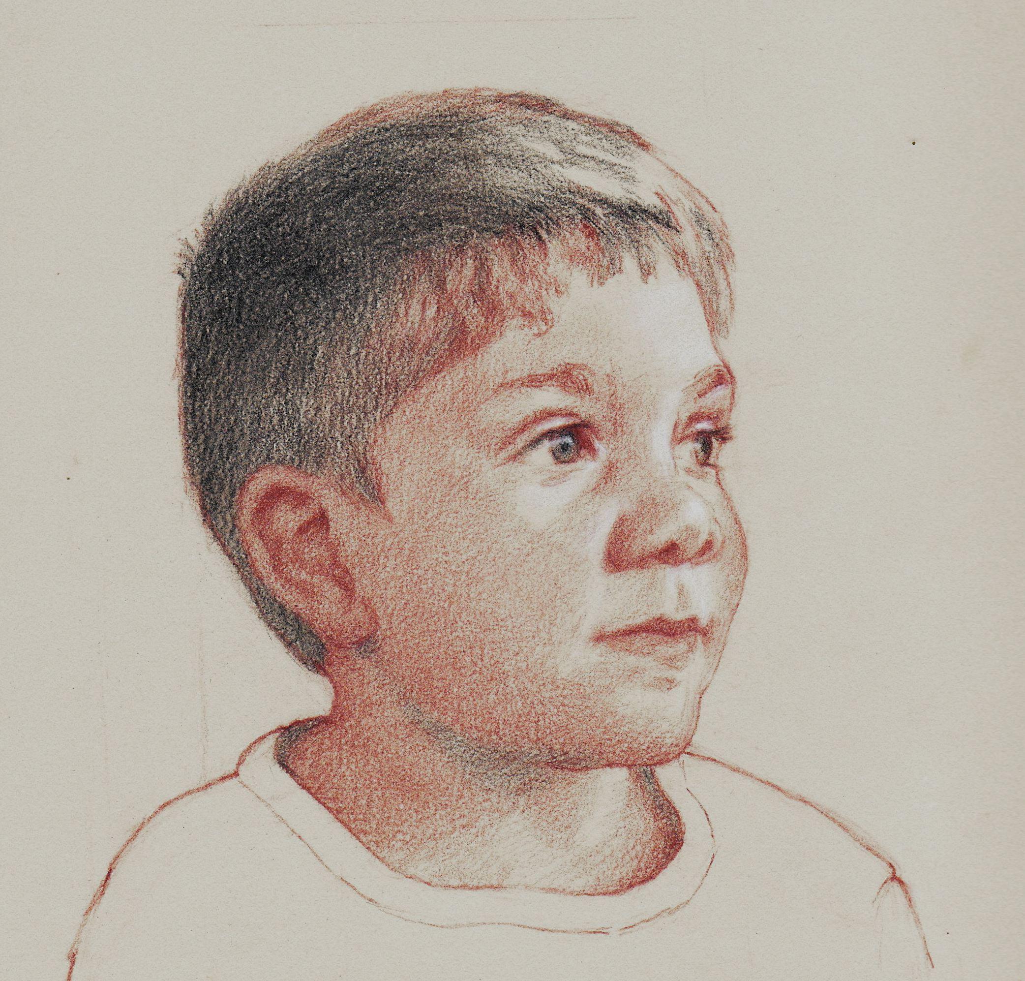 Portrait of Henry, aux quatre crayon by Eduardo Fernandez