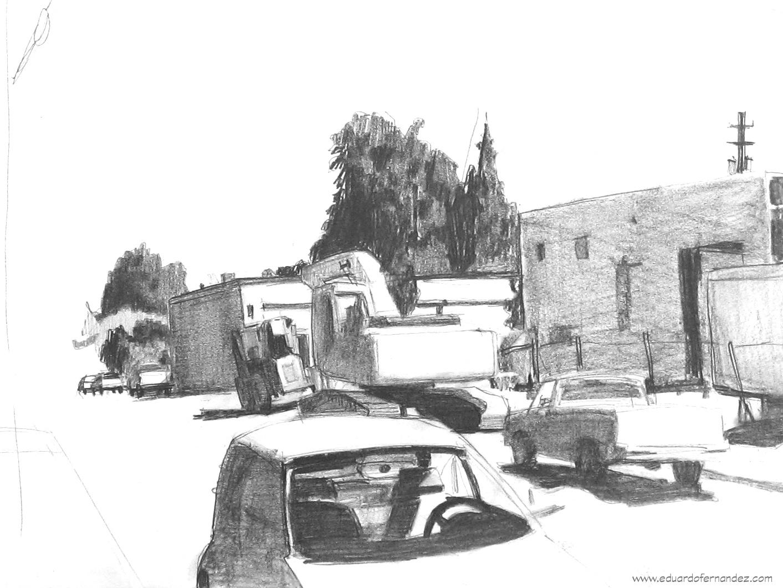 002-My Street - Field Study, pencil, 9%22x12%22.JPG
