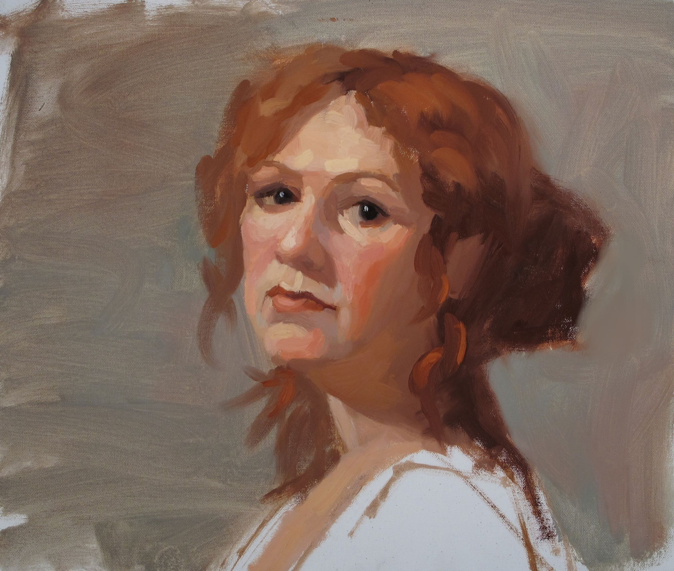 Jennifer - 3 hr oil study. 16x20: EF