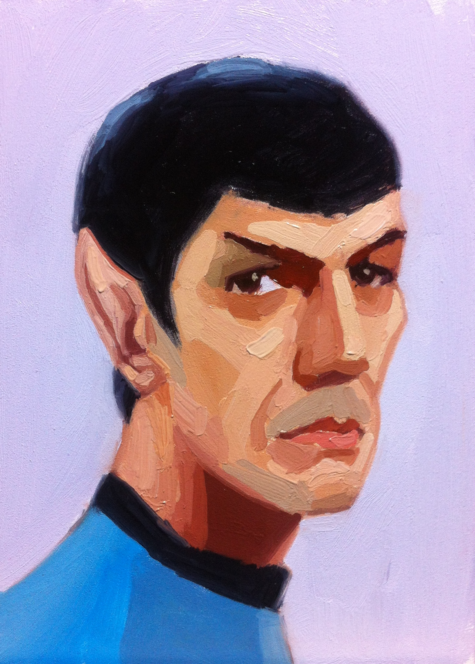 Dr. Spock, 5 x 7, oil on board.