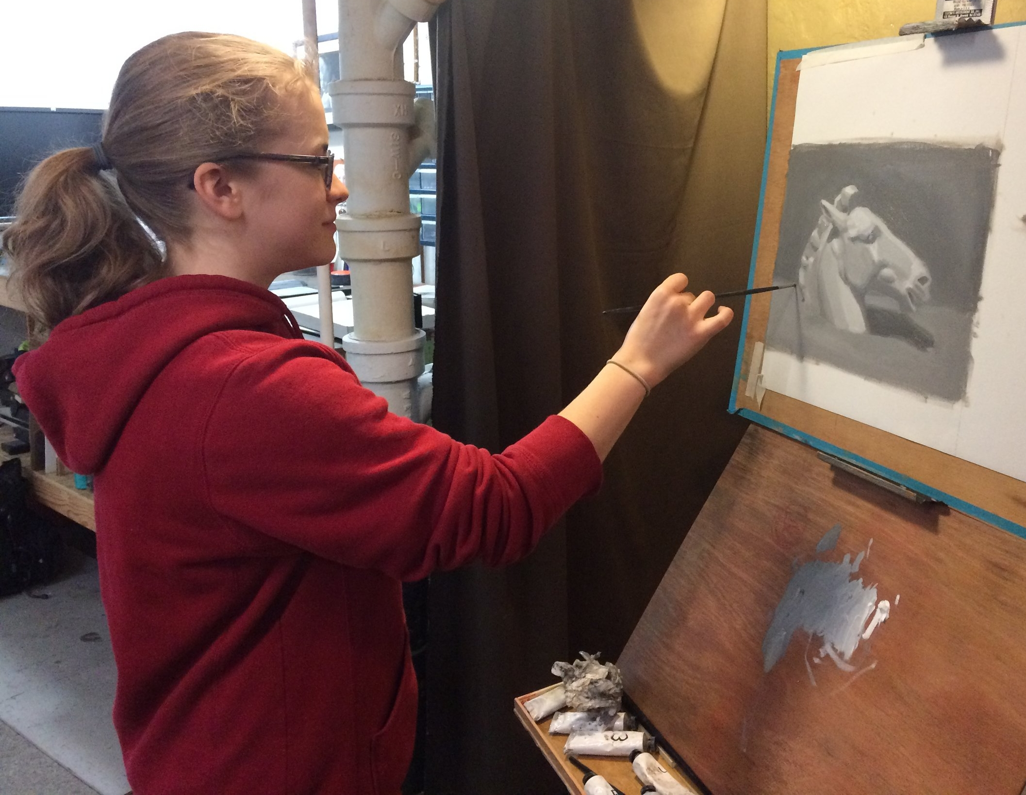 Mentored Drawing & Painting Studio - I teach the Cours de Dessin by Charles Barque, an in-depth,step-by-step approach to drawing that's tried and true.