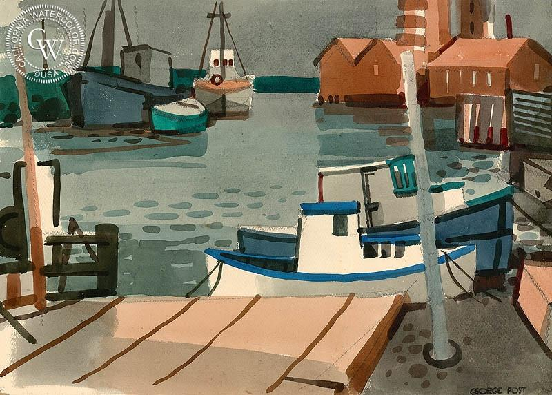 Boat landing, 20 x 24, wc