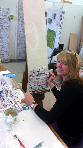 At work, kind of, in my studio.