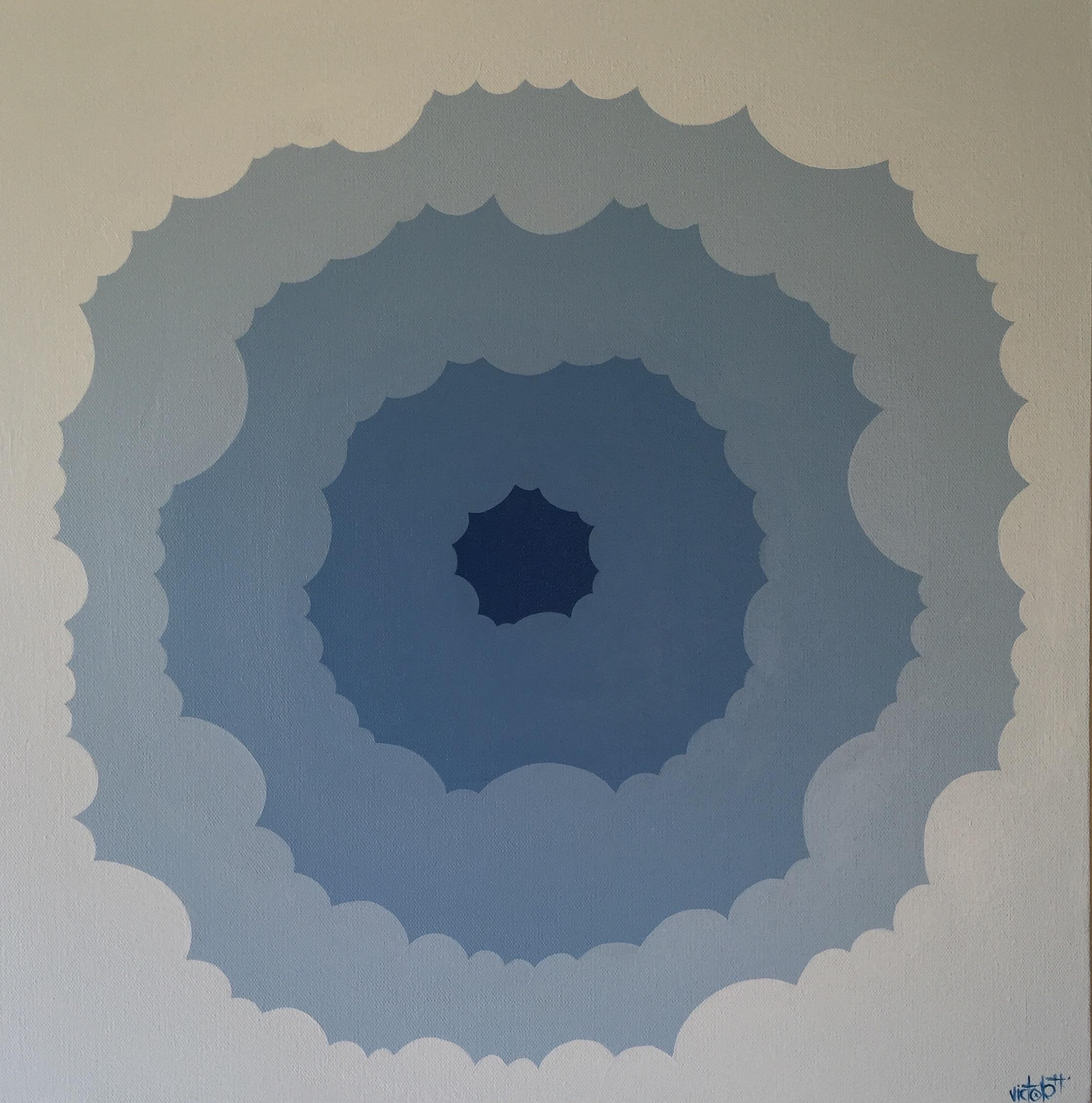 Blue Nuclear Flower