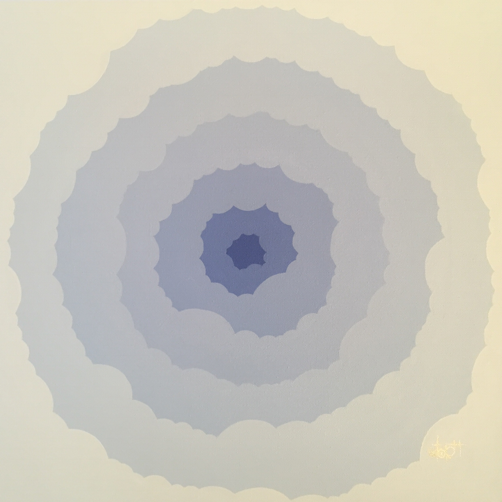 Blue Atomic Flower