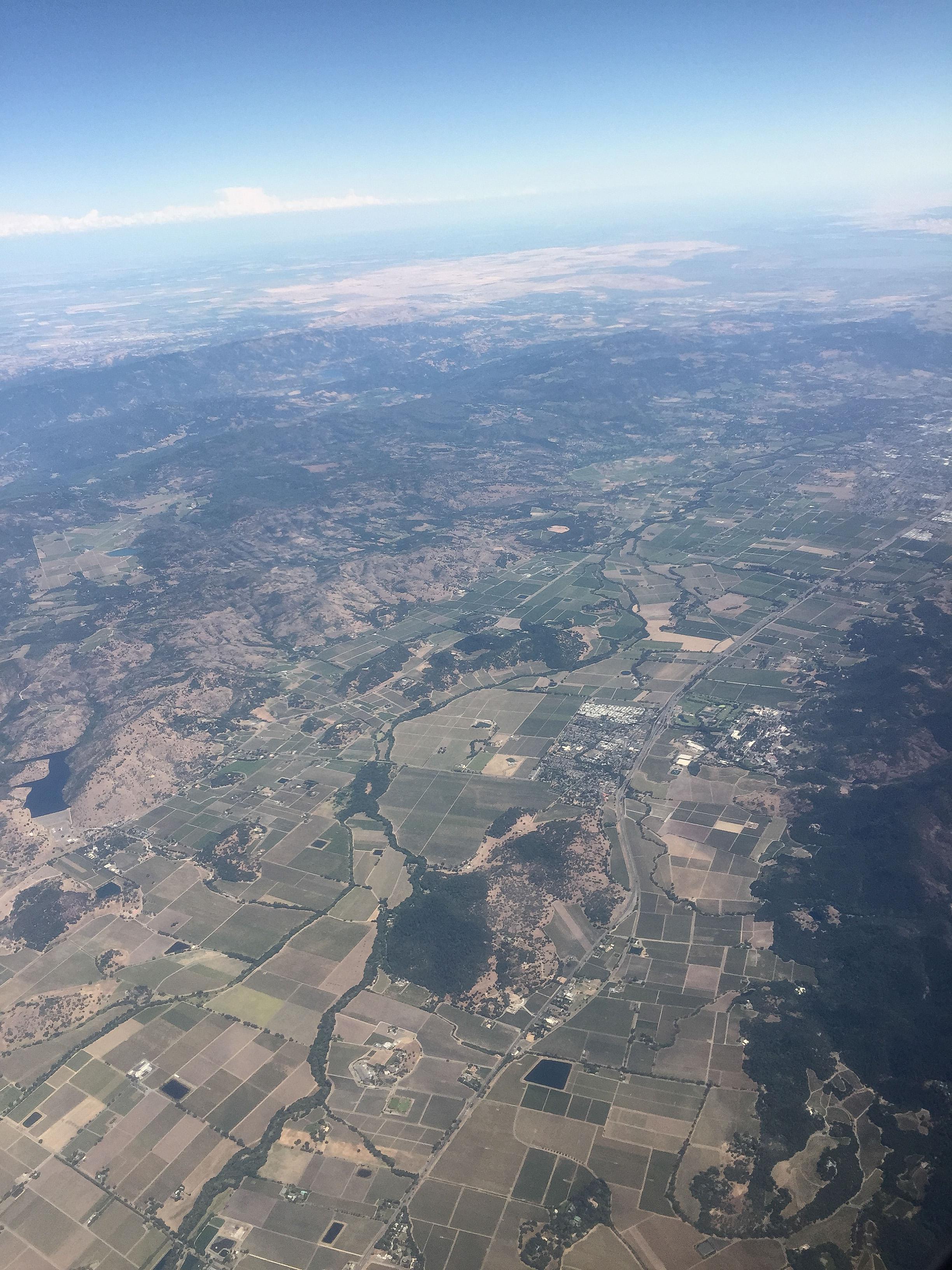 Napa Valley (Southwest flight PDX to OAK