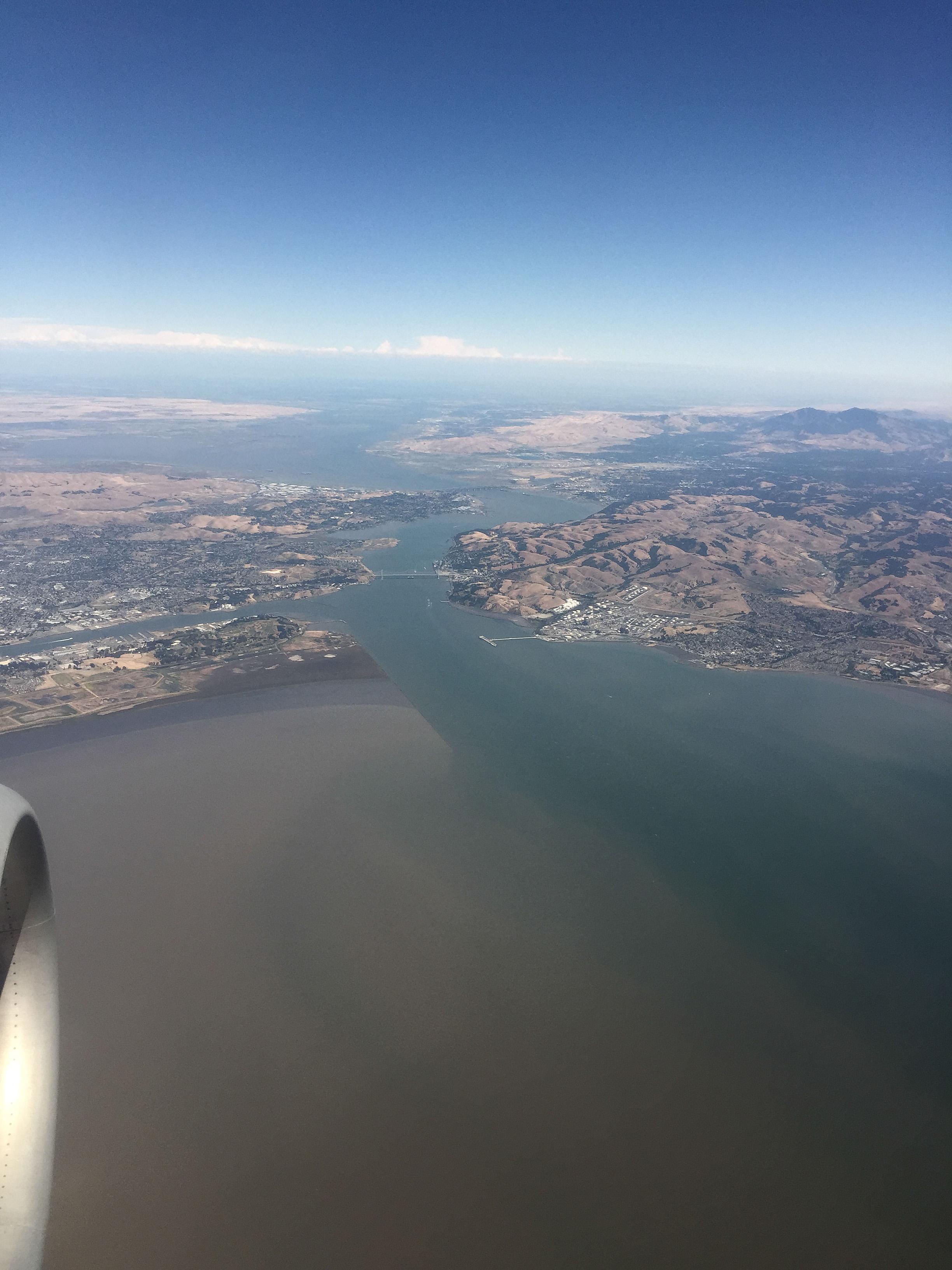 Carquinez Strait (Southwest flight PDX to OAK)