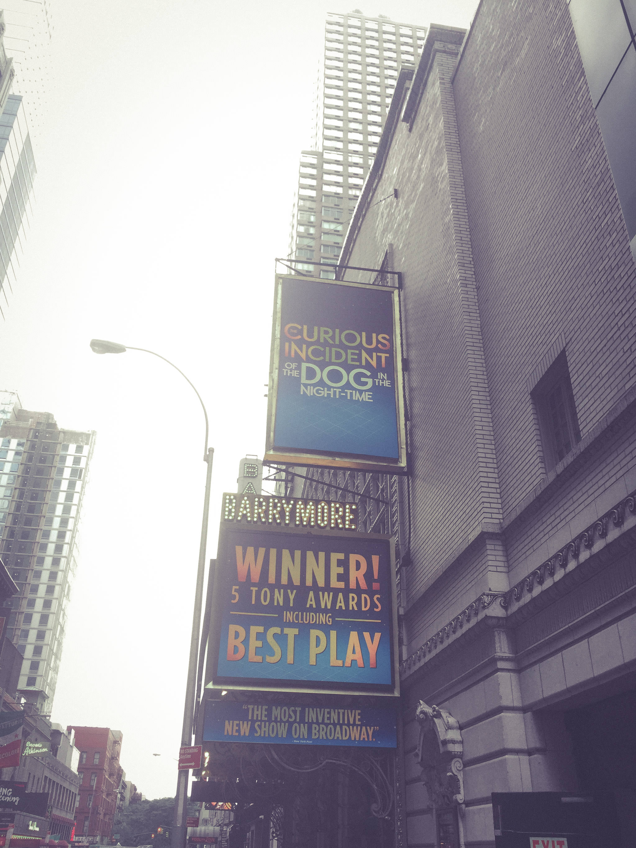Barrymore Theatre on 47th Street, NYC (Aug 2015)