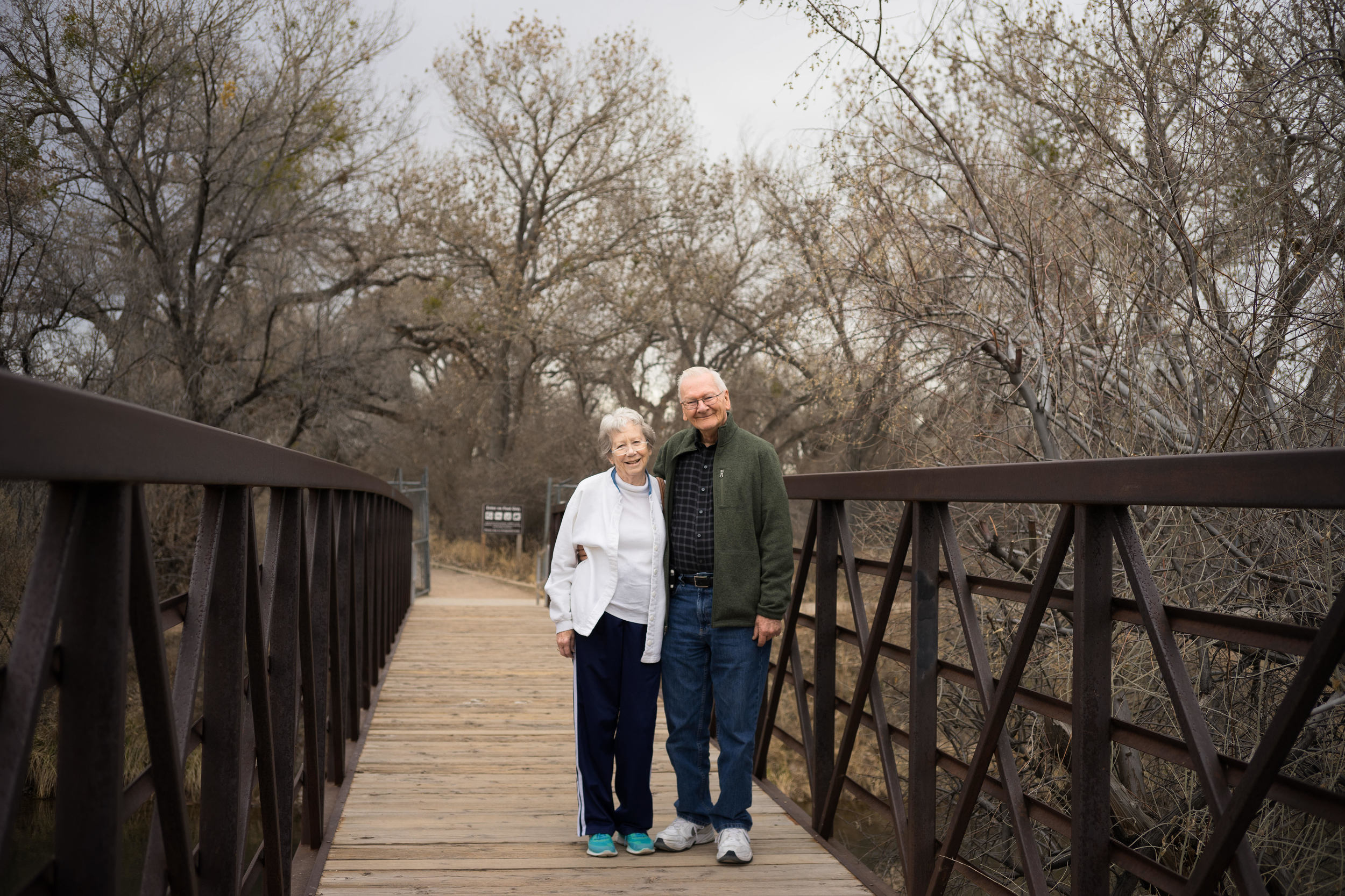 Portrait of Parents on a Bridge