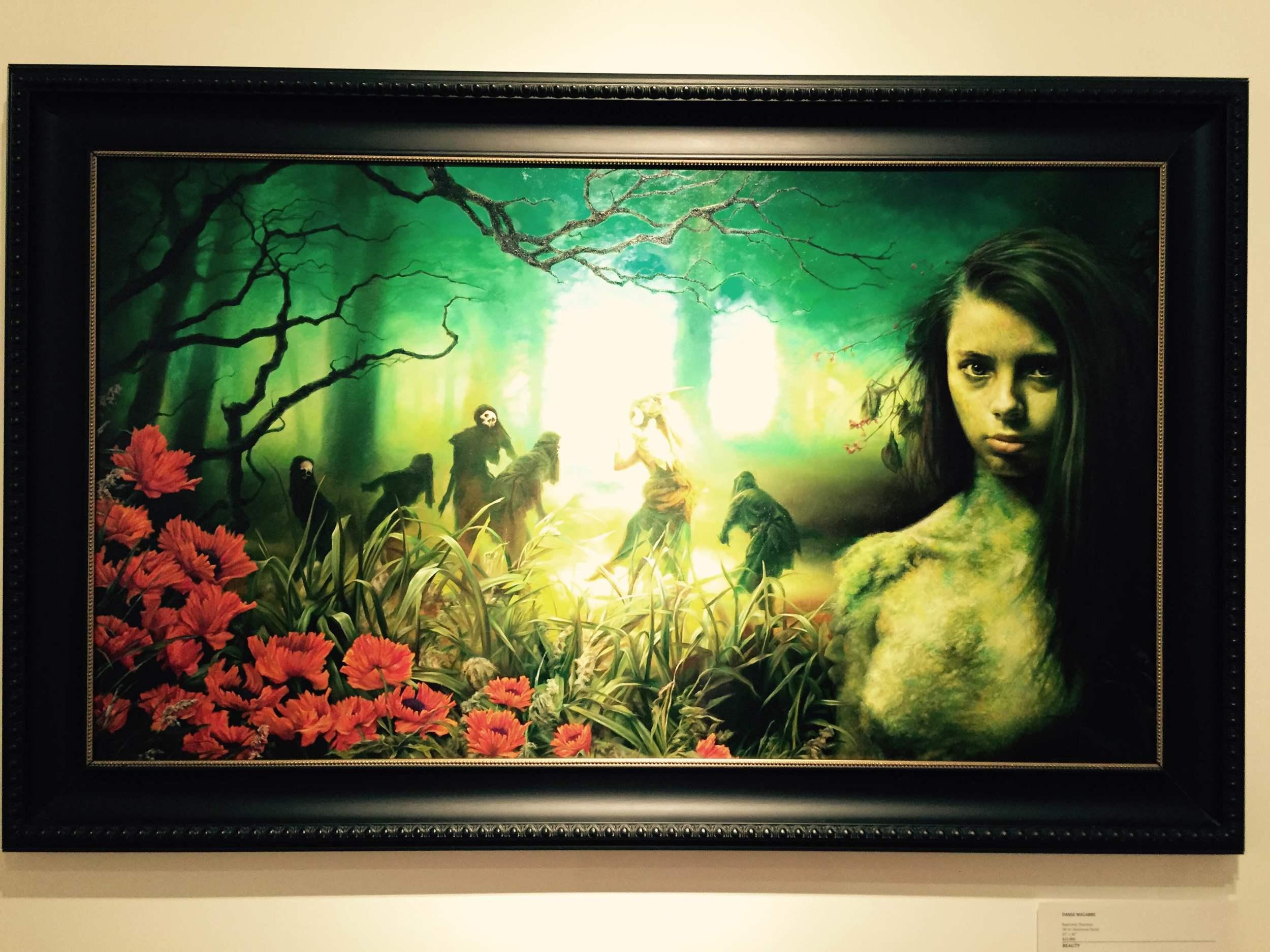 "Danse Macabre  Raymond Thornton Oil on Aluminum Panel 25"" x 44"" http://www.raymondthornton.com/"