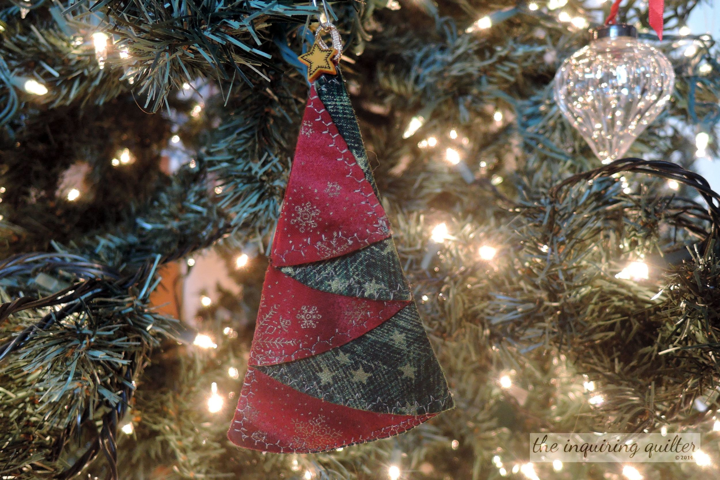 Folded Fabric Christmas Tree Ornament The Inquiring Quilter