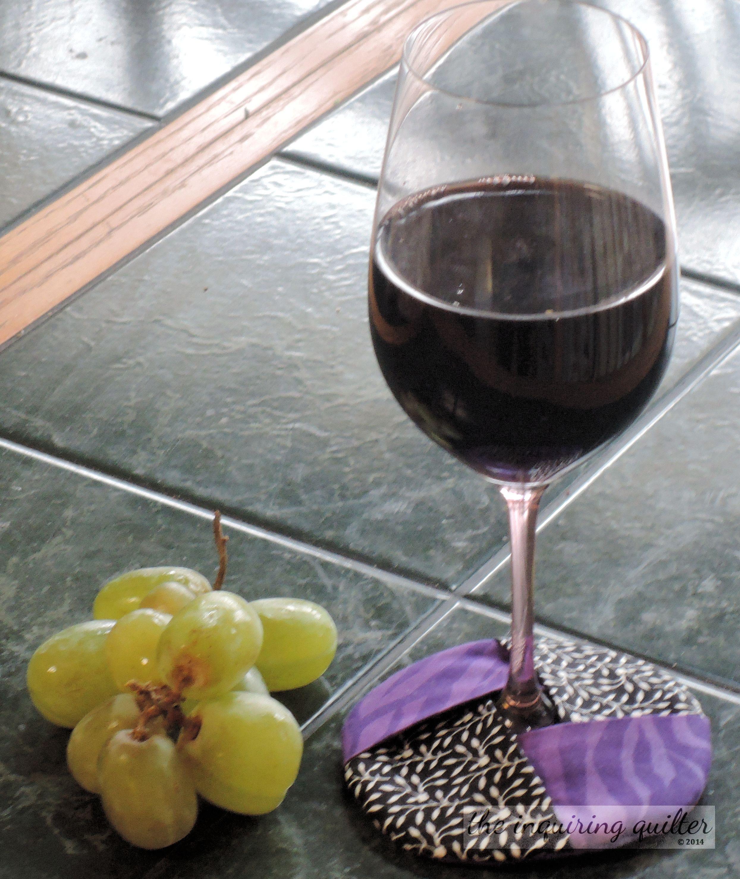 Day Eight: Insulated Fabric Wine Glass Coaster