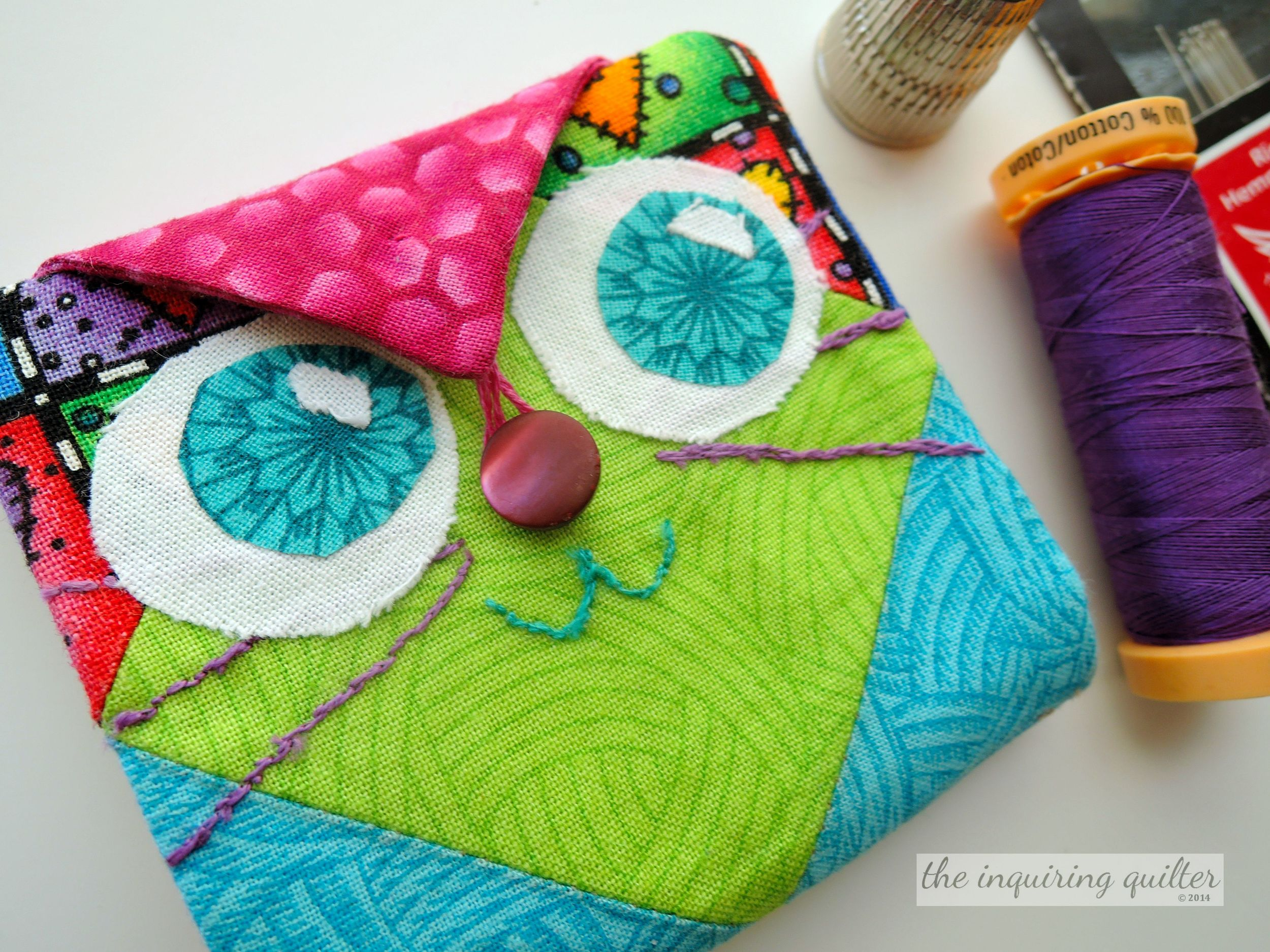 Day Five: Kitty Cat Fabric Needle Case