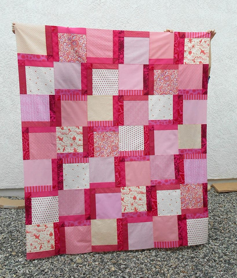 Christine Quilt 2 top and back pieced