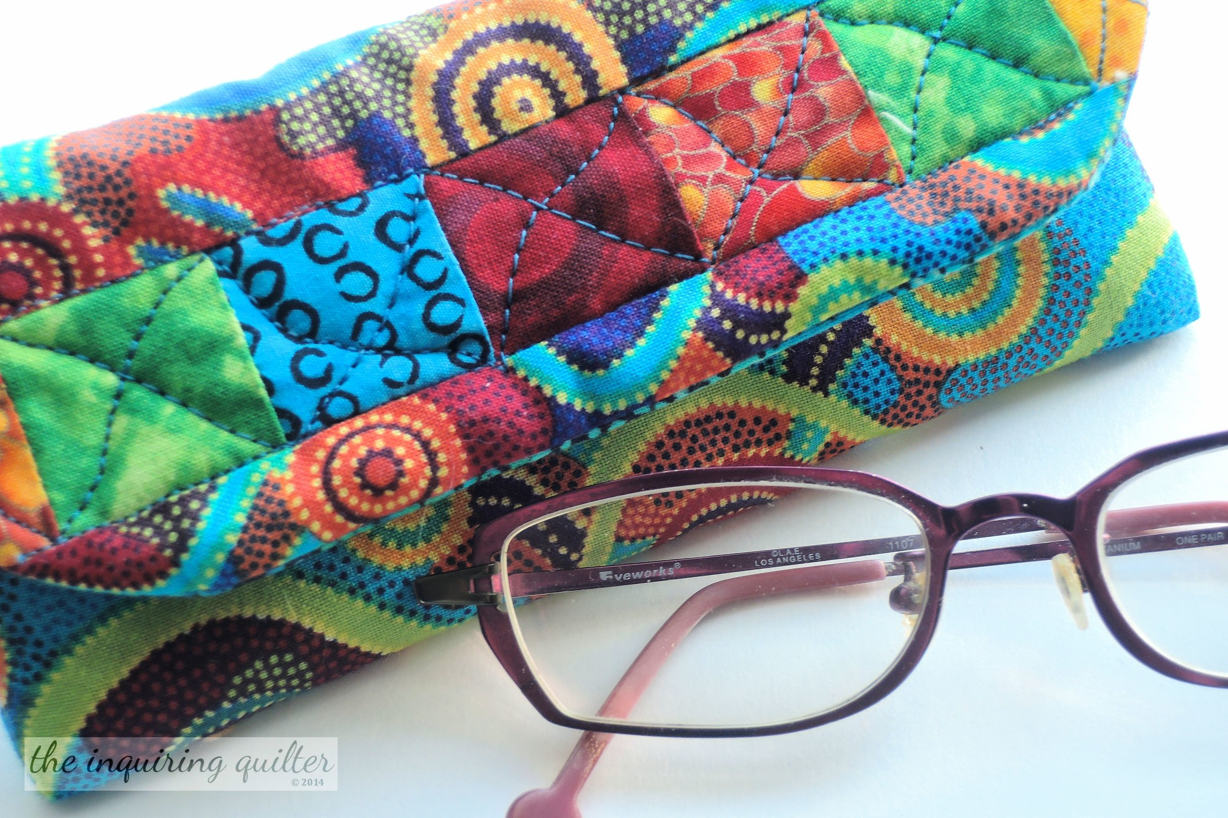 Day Nine: Quilted Eyeglass Case