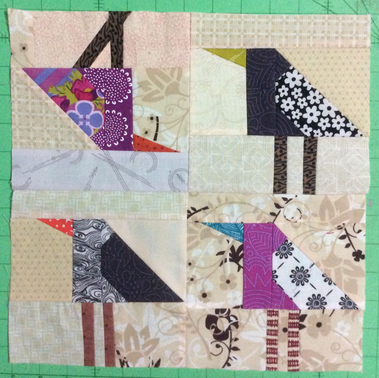 "Velda's ""murder of crows"" block"