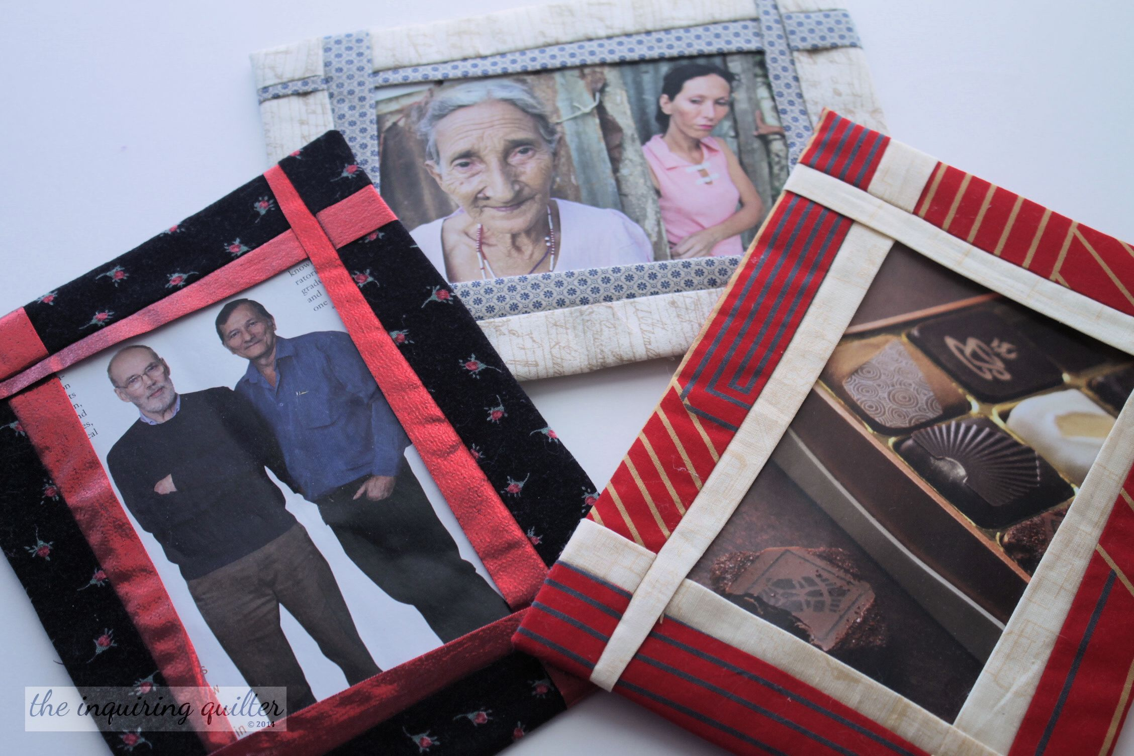Folded Fabric Photo Frames