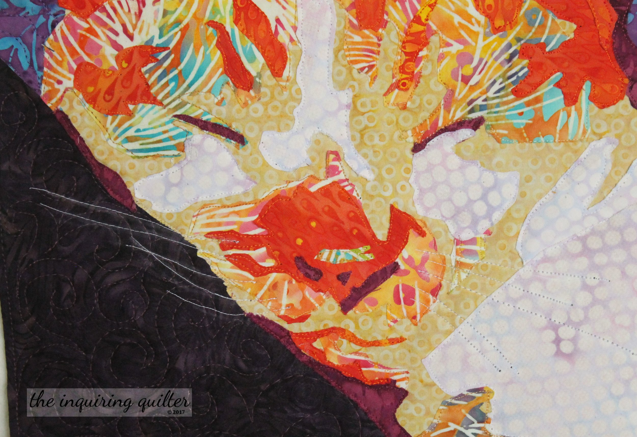 Making this art quilt helped me come to terms with the death of my sweet cat, Lucy