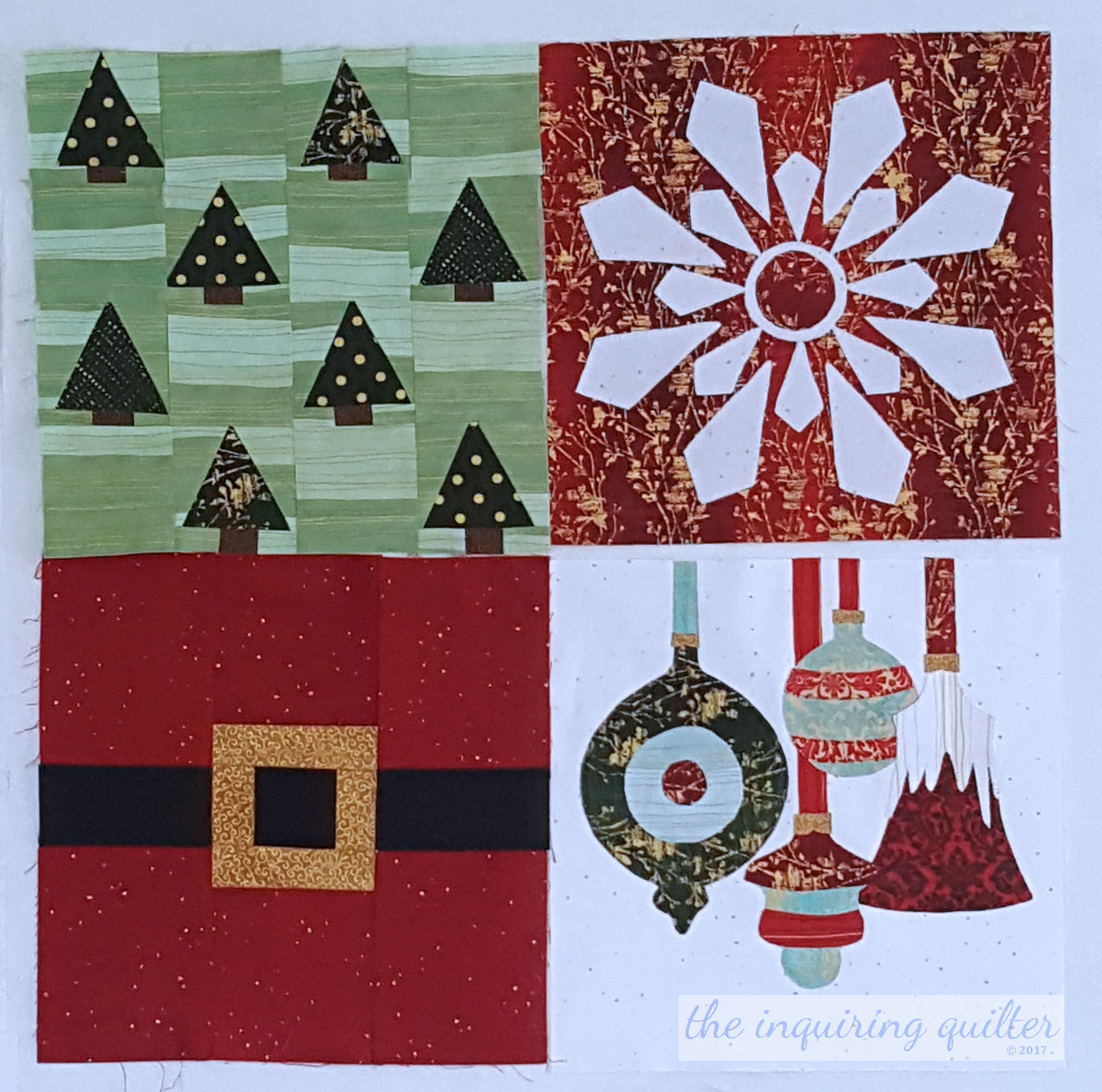 Blocks 1, 2, 3, and 4 - I Wish You a Merry Quilt Along