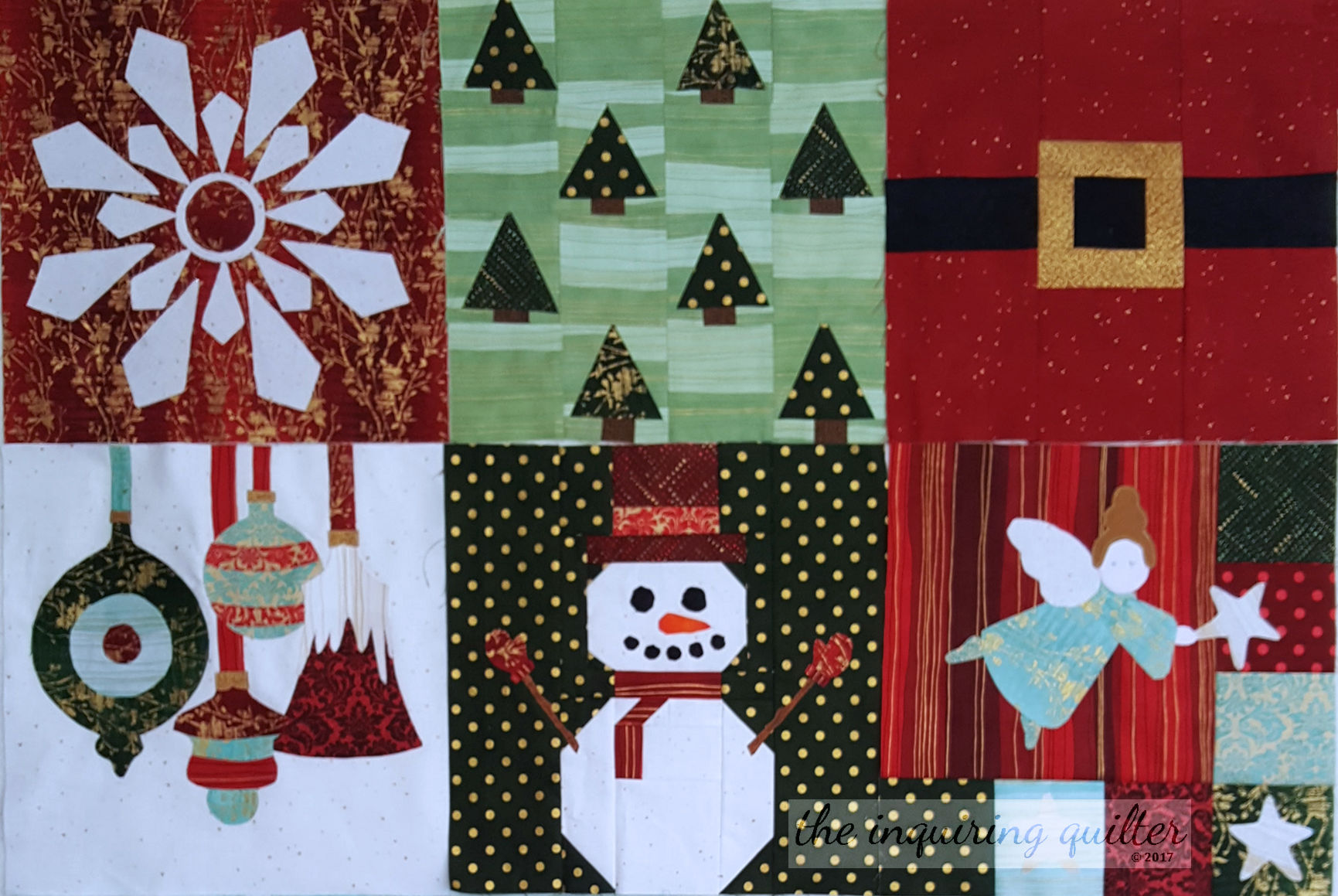 Blocks 1 to 6 - I Wish You a Merry Quilt Along