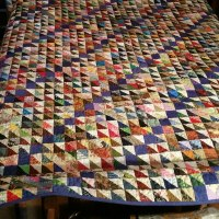 Alice's Dizzy quilt from Week 7