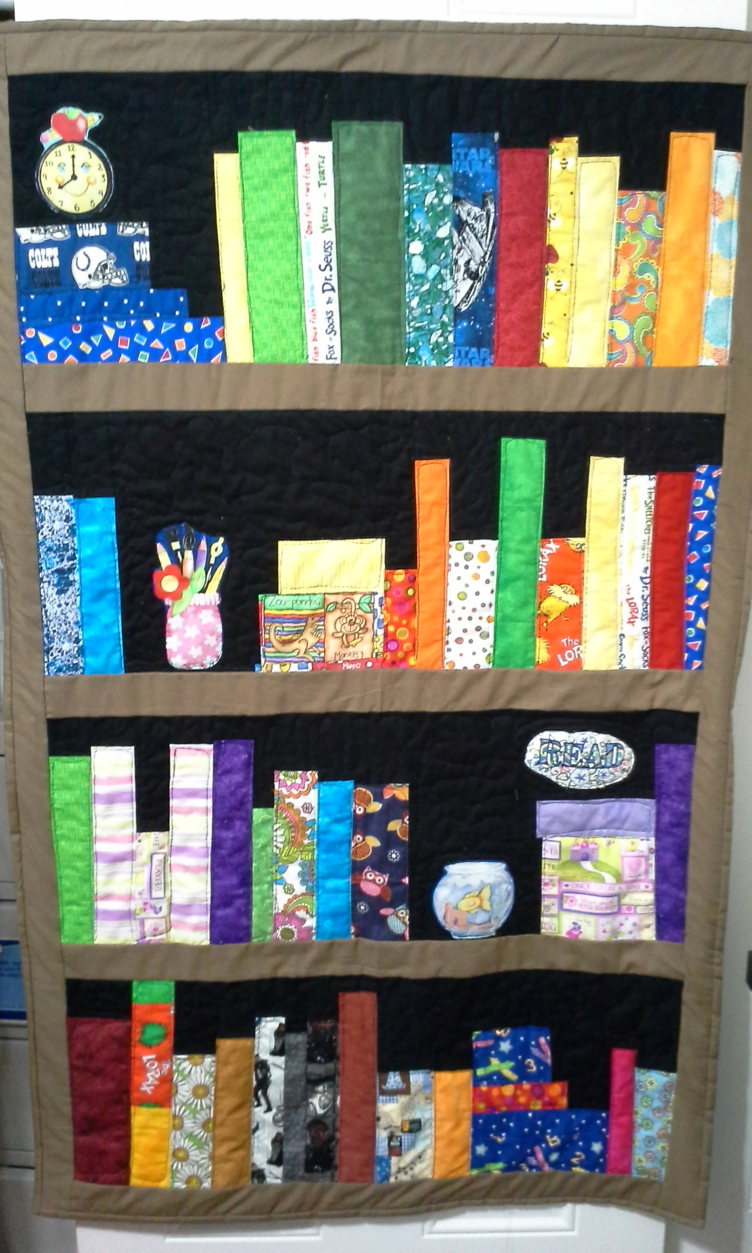 Gina's Library quilt from Week 8
