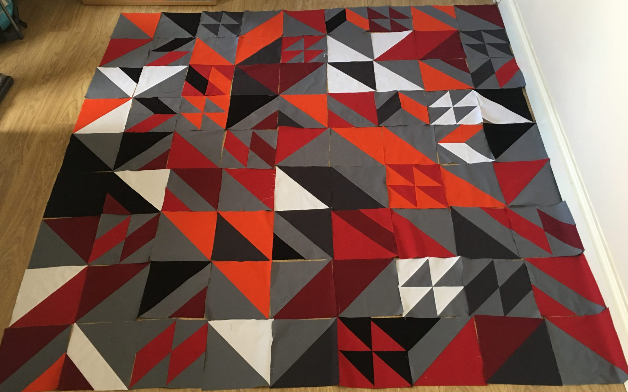 Beverly's Rebel quilt from Week 23