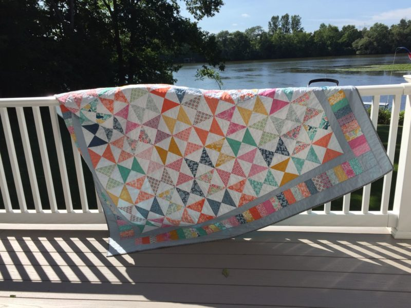 Jan's All in Good Time quilt from Week 25