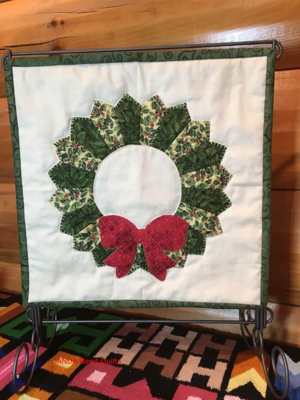April's Dresden Wreath quilt from Week 37