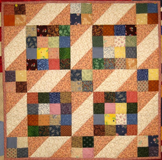 Angie's Palmateer Point mini quilt from Week 41