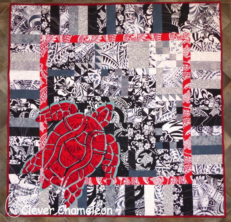 Dione's Vanatu Turtle quilt from Week 47