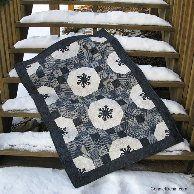 Connie's Alpine Snowflakes quilt from Week 49