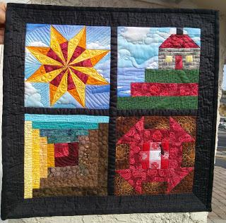 Marlene's mini guild challenge quilt from Week 40