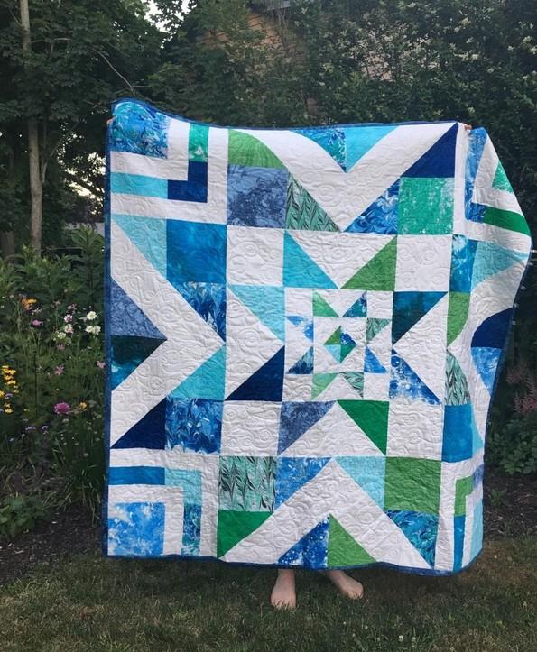 Sharon Galli's Amagansett quilt from Week 24