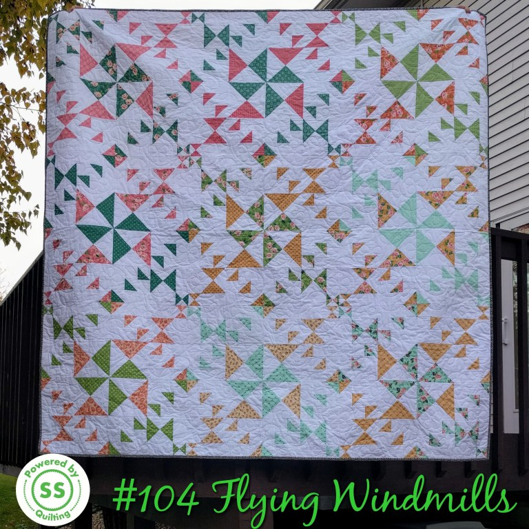 Sherry's Flying Windmills quilt from Week 37