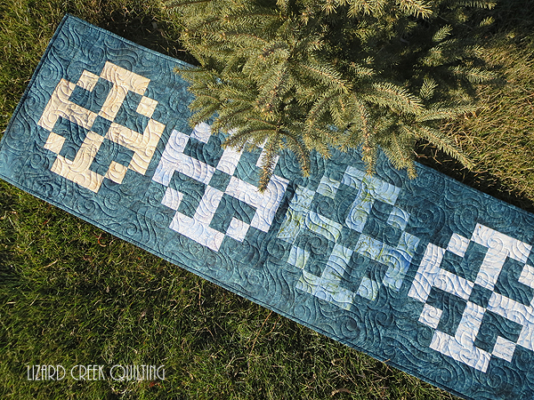 Terri's Frosty Times Four table runner from Week 46