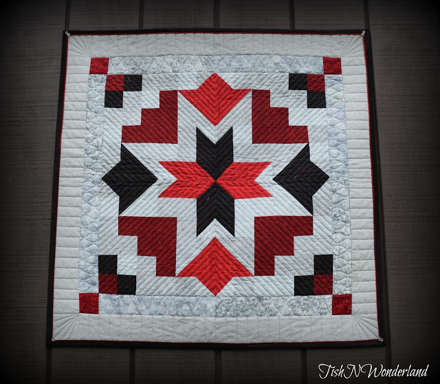 Tish's Star Blossom quilt from Week 18