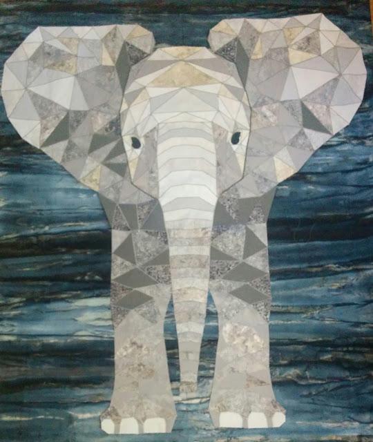 Yanika's baby elephant quilt from Week 37