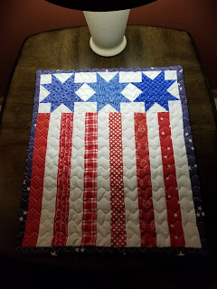 Kathy table topper from free pattern Moda Stripes and Stars pillow.jpg