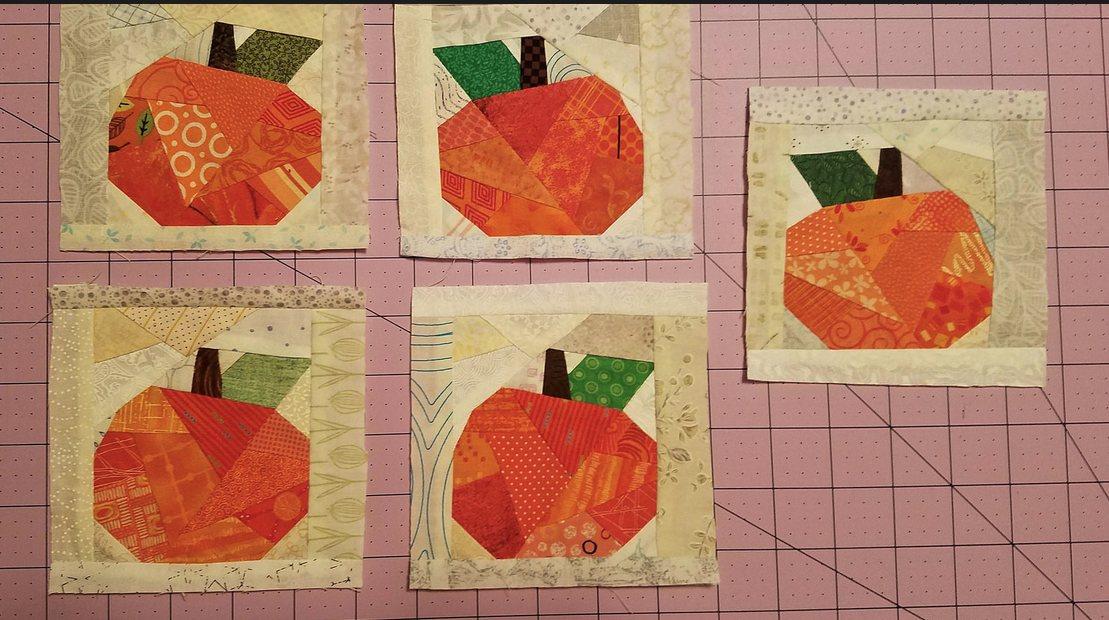 Lisa Marie Pumpkin blocks her design.JPG