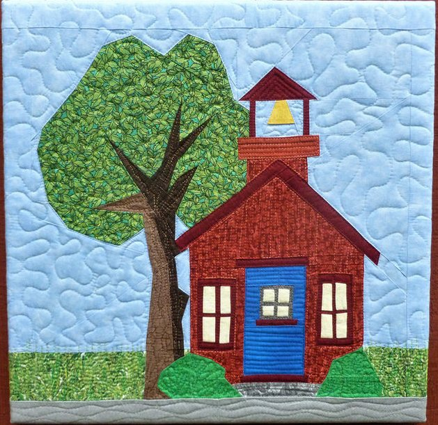 Lisa Marie schoolhouse by Janeen of Quilt Art Designs in Paper Piecing Mag issue 14 quilt.JPG