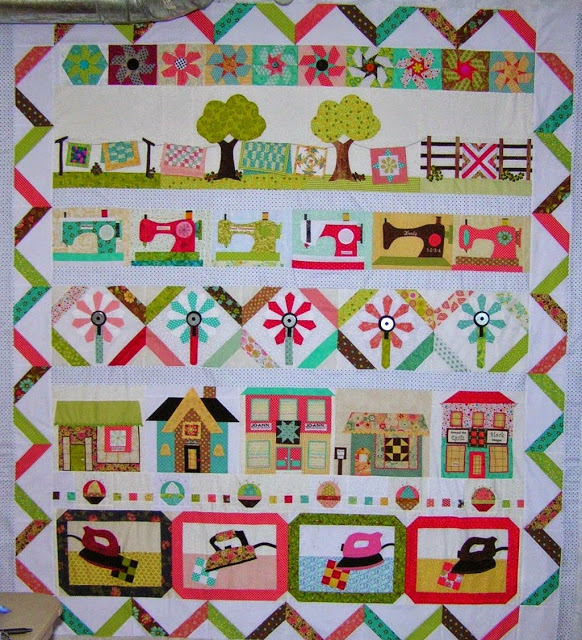 Deana one monthly goal to quilt this her design called Quilters Garden.JPG