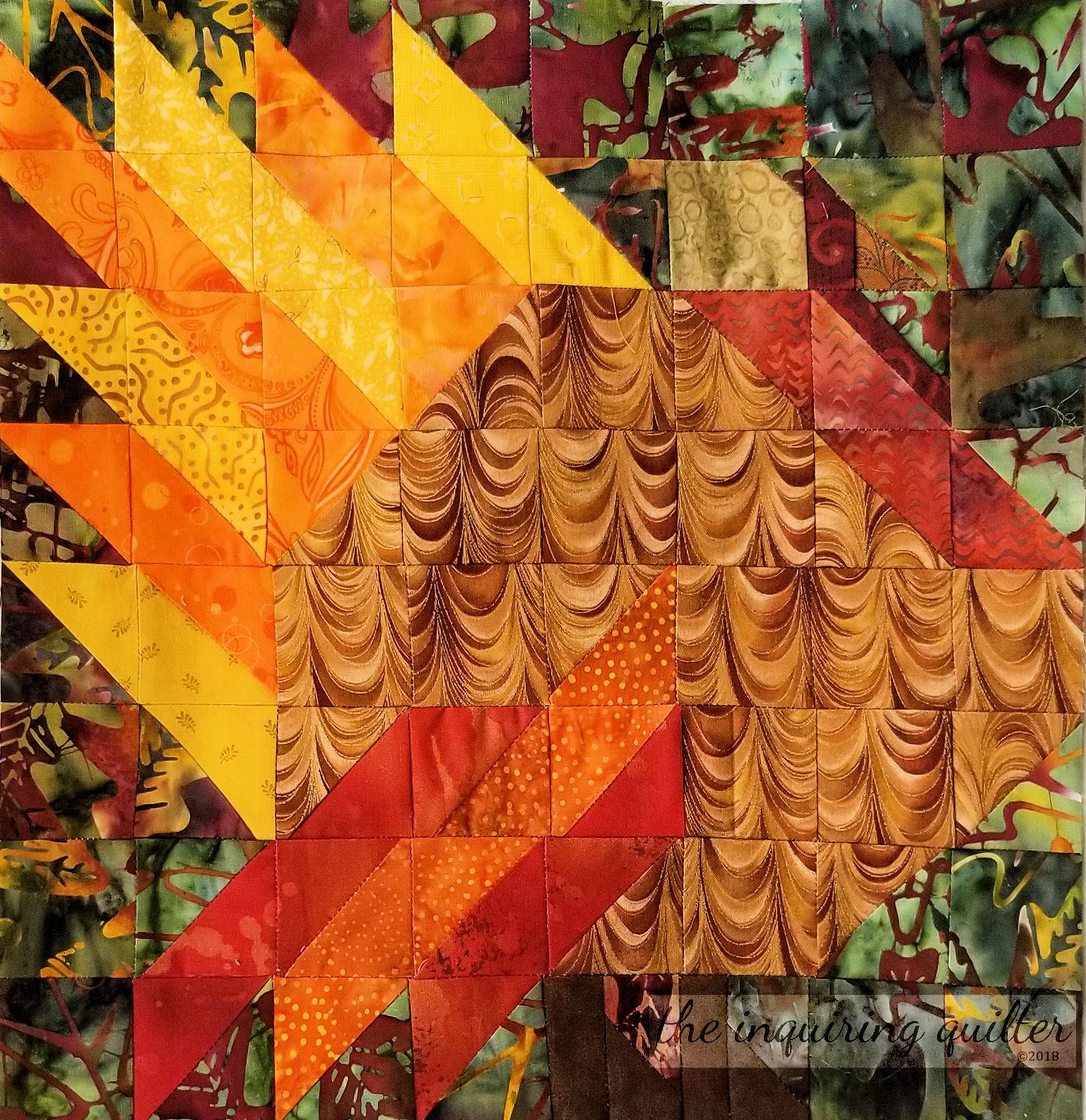 Block 9 - Postage Leaf Turkey