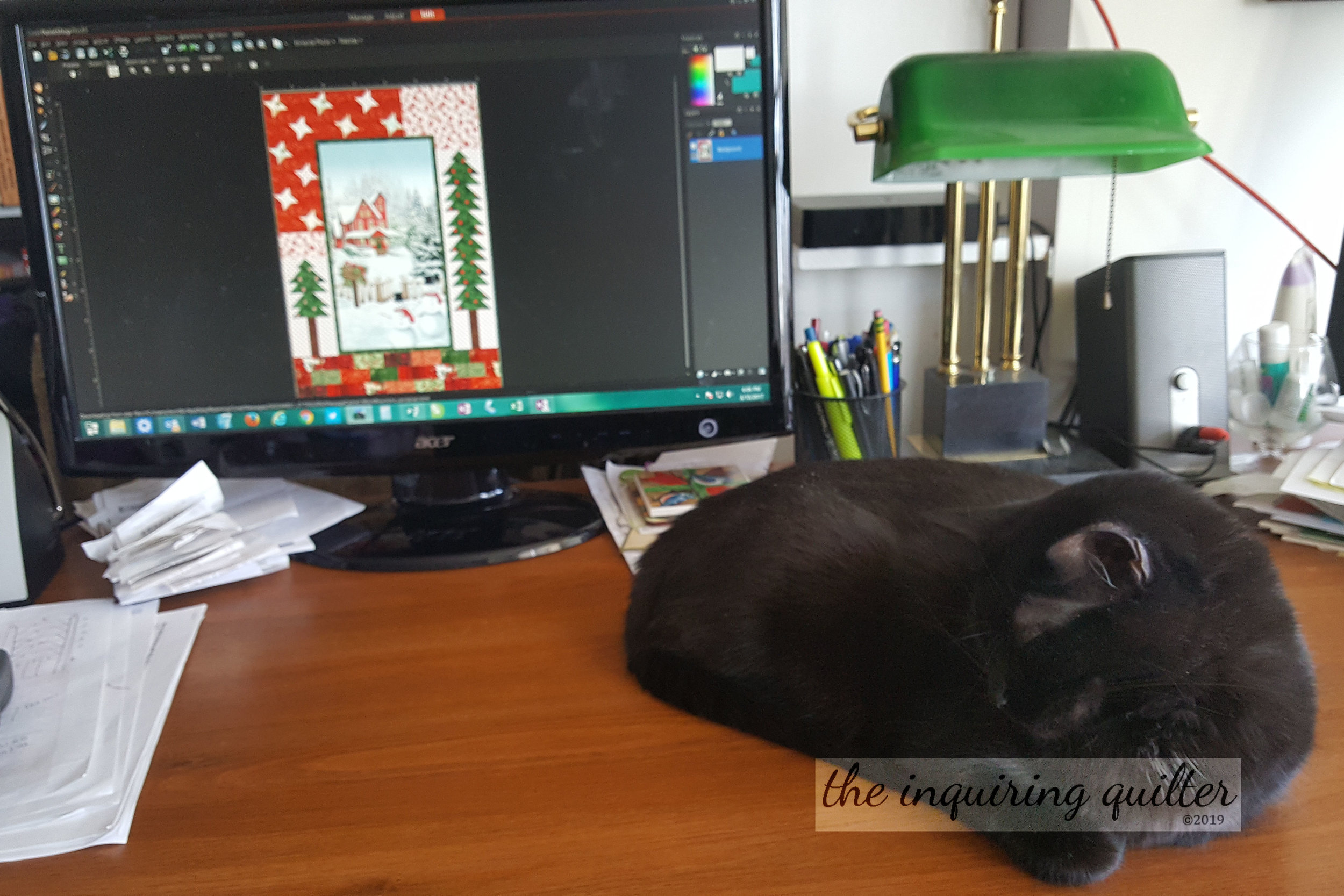Zora and pattern writing Merry Little Christmas.jpg