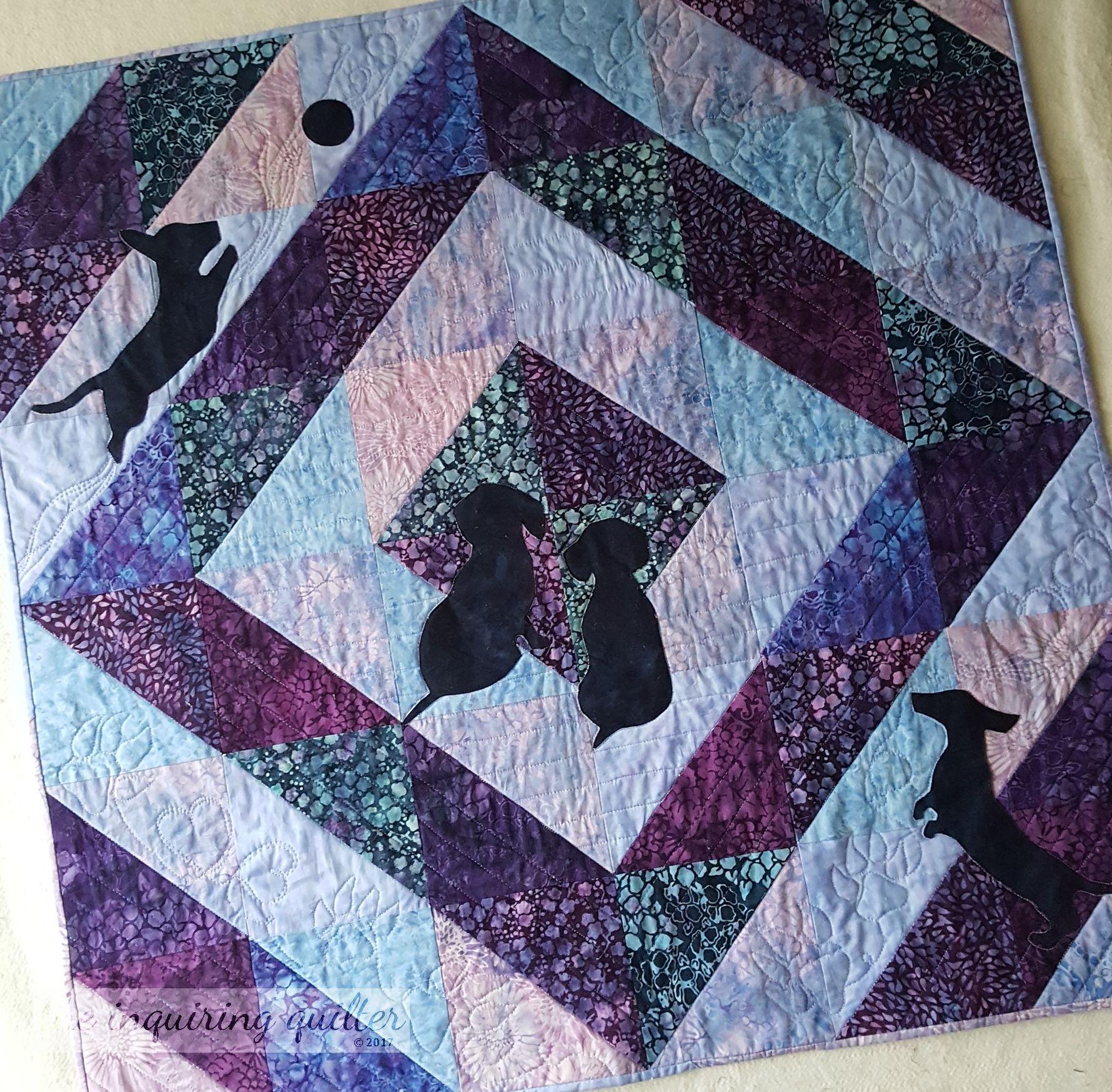 Dash Away, Dachs Away - made with Vineyard fabrics