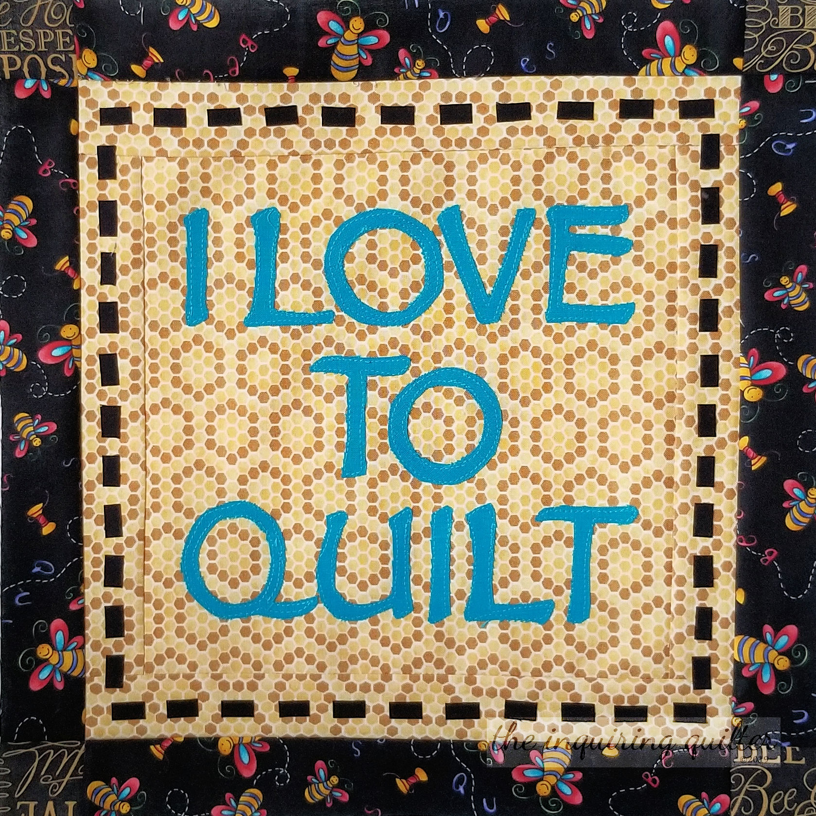 Block 9 - I Love to Quilt