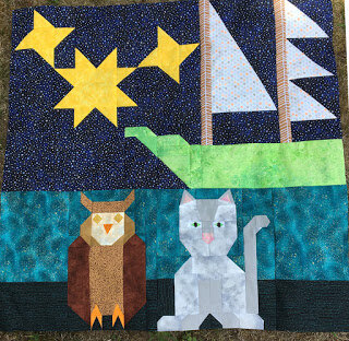 The Owl and the Pussycat by Nancy @ Patchwork Breeze