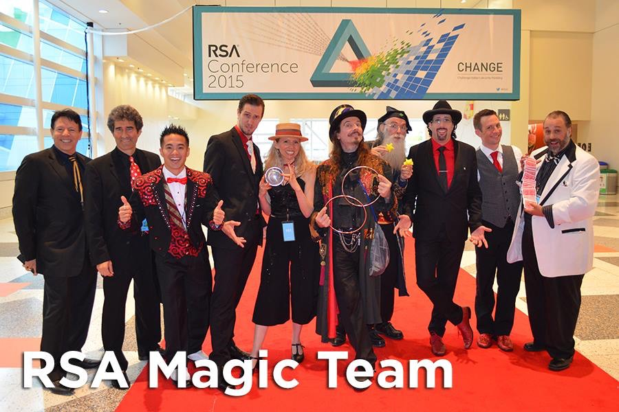 We had a wonderful team of Magicians at the RSA Conference at Moscone Center in San Francisco.